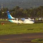 Pesawat Garuda Tergelincir 29 Penumpang Selamat